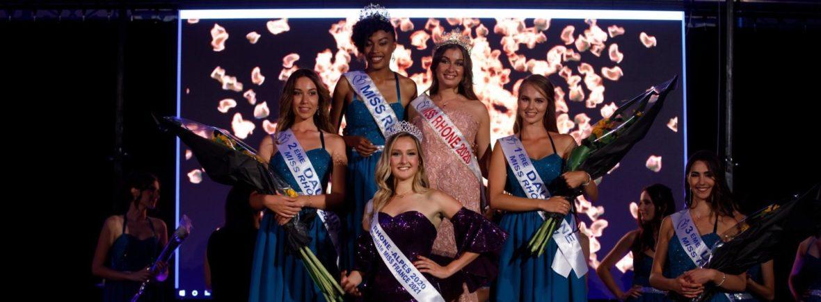 Podium Miss Rhône 2021